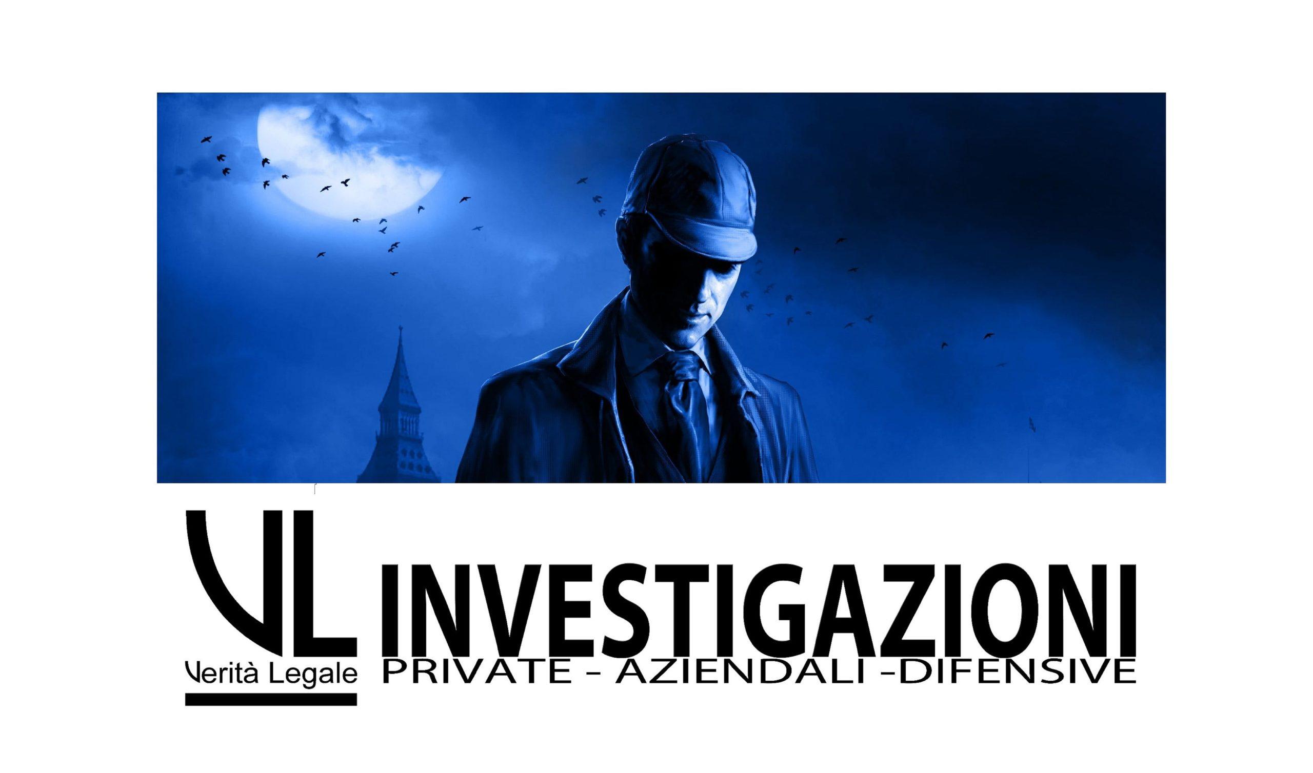 Logo dell'azienda Verità Legale con foto rappresentativa di un detective, rappresentante il cuore di ciò che l'azienda si prefigge di salvaguardare.