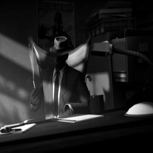 Immagine di un detective in bianco e nero, rappresentante il servizio delle investigazioni private offerte dall'azienda Verità Legale.