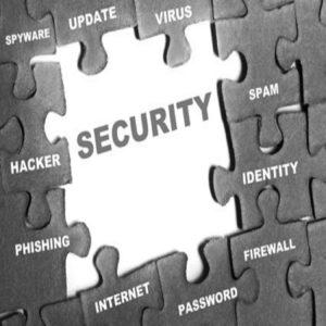 Immagine di pezzi di puzzle, che compongono il termine di security in bianco e nero, rappresentante il servizio delle investigazioni informatiche offerte dall'azienda Verità Legale.